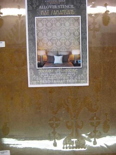 Ikat Samarkand stencil