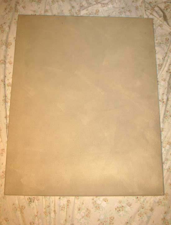 Base-painting canvas for stencil art