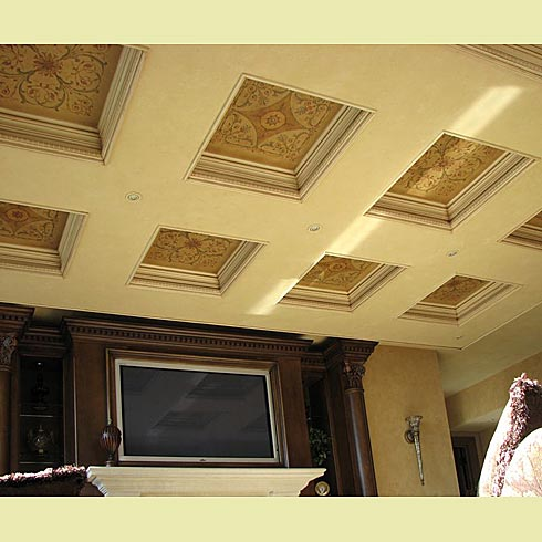coffer stencils for ceilings