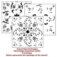 ceiling coffer actual stencil design