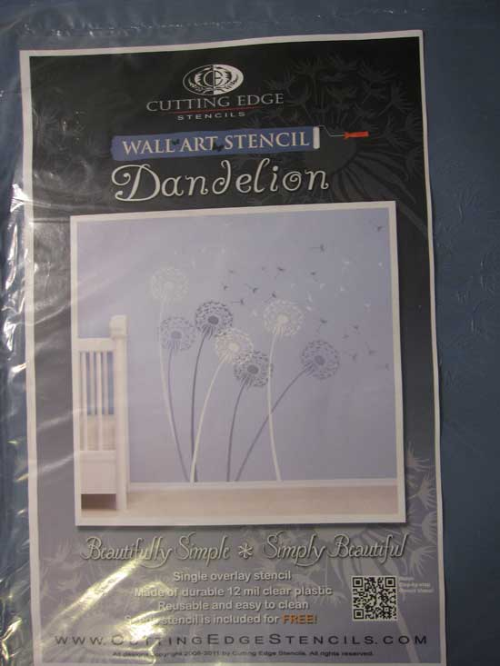 Dandelion stencil