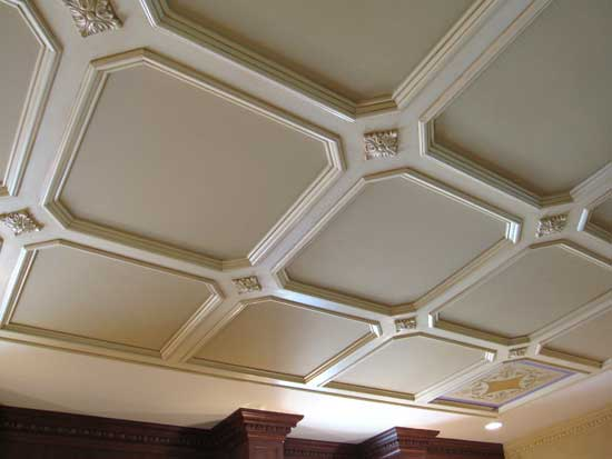 ceiling coffers for stenciling