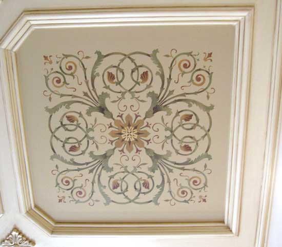 ceiling coffer stenci