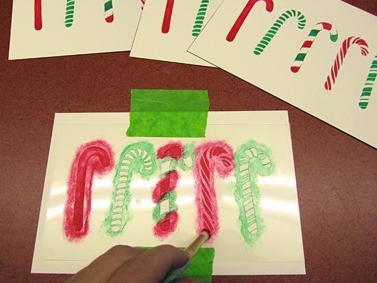 card stenciling