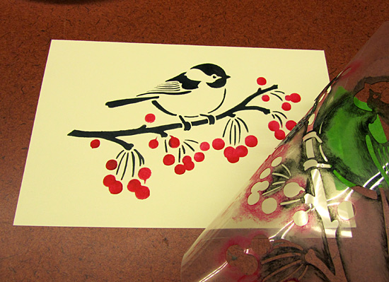 Holiday Card Making with Stencils!