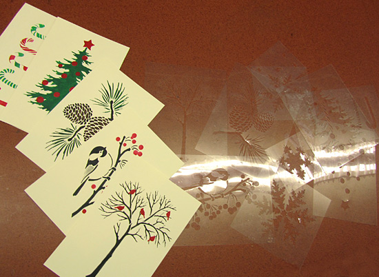 card stencils