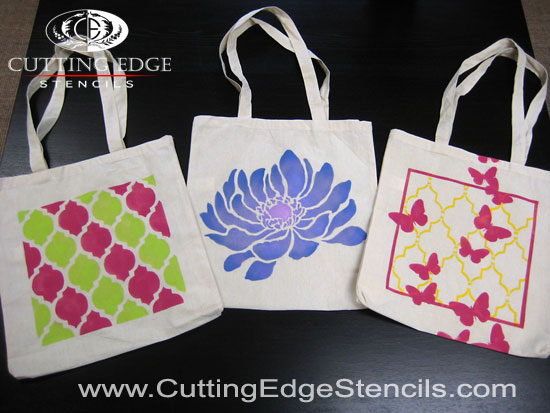 How to Stencil a Tote Bag in 4 Easy Steps