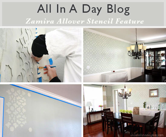 All In A Day Blog Feature: Zamira Allover Stencil