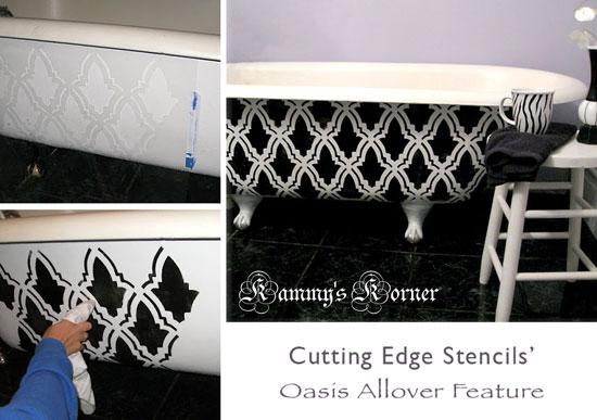Kammy's Korner Oasis Stencil Feature