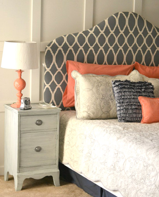 DIY Stenciled Headboard Stunners!