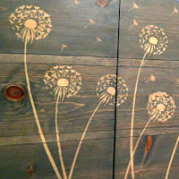 DIY Design Ideas: Flower Stencil Wood Stain Decor