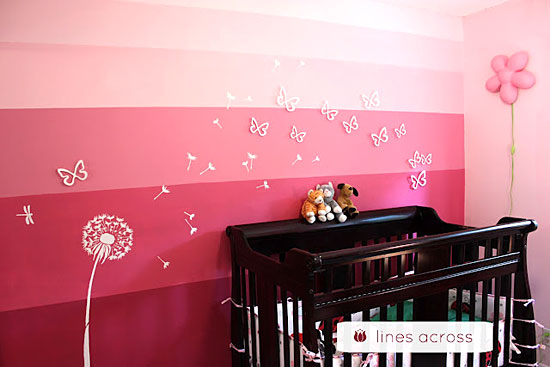 Stenciled Ombre Accent Wall