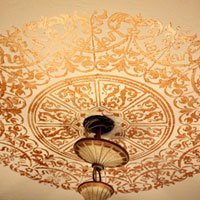 Unique Ceiling Medallion Stencil Ideas