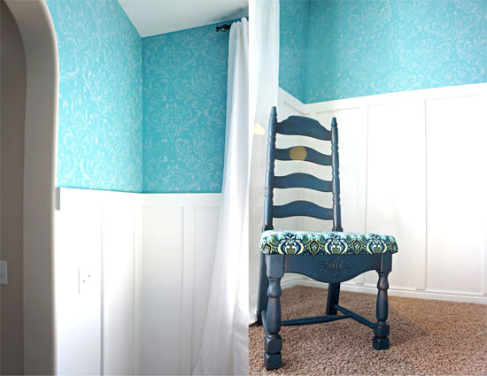 How to Stencil a New Look for your Home Interior: Anna Damask