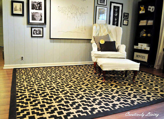 Room Decorating Idea: Stencil your Throw Rug!
