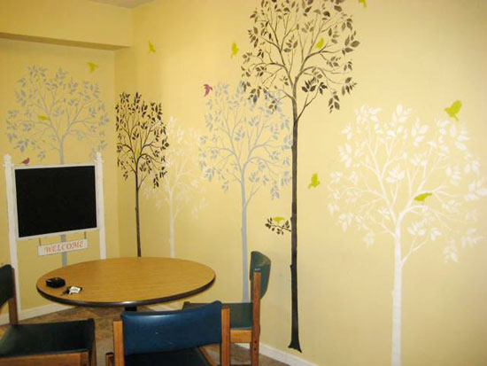 Stencils Transform a Homeless Shelter