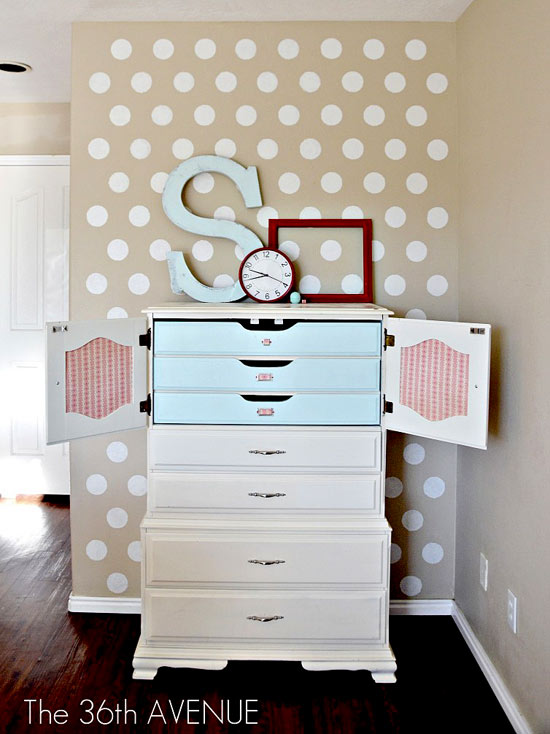 Charming Results Using Polka Dot Allover Stencil