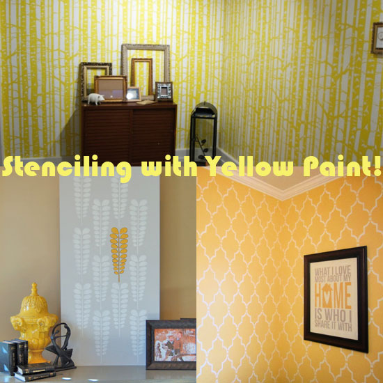 Stenciling with yellow paint brings light back to your room
