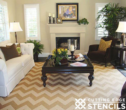 Chevron Trend Inspired Wall Stencils!