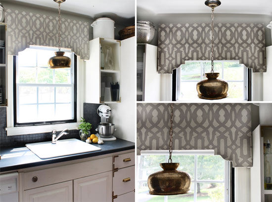 Using Wall Stencils to Spruce Up Your Window Treatments