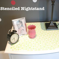 Using DIY Craft Stencils to Create Green Bedroom Home Decor