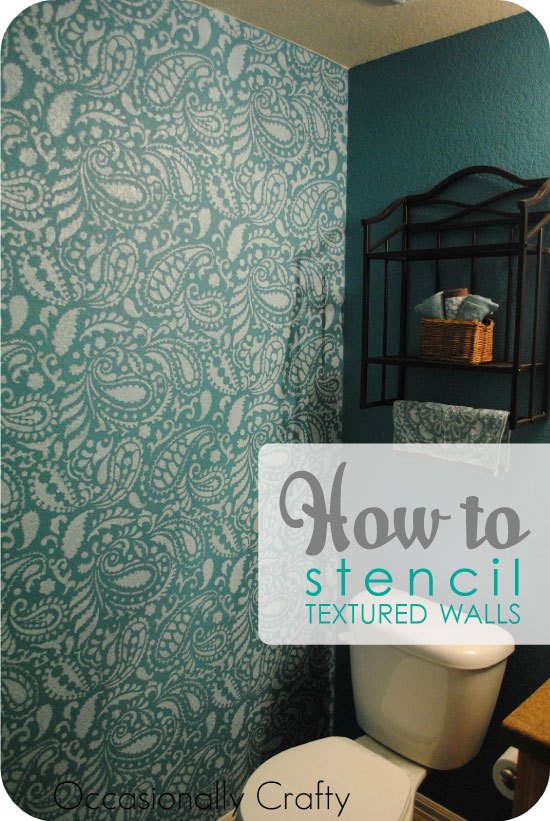 Stenciling a Textured Wall with Painting Stencils