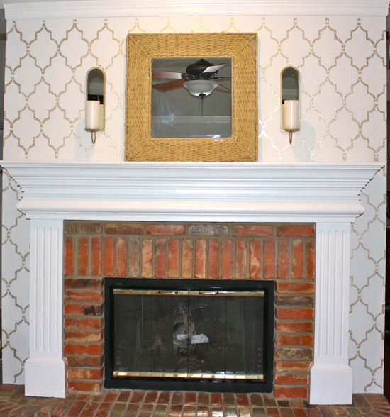 Stencil Ideas for your Home Fireplace
