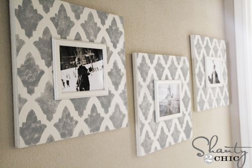 Stenciling Photo Frames with Cutting Edge Stencils