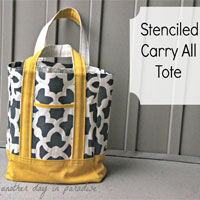 Using Craft Stencils to Create Fabulous Tote Bags