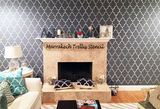 Moroccan stencil ideas for your walls!