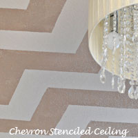 A Chevron Stenciled Ceiling, Giveaways, And More!