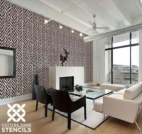Zebra Stripe Stencil Patterns and Home Decor