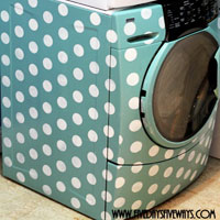 How to Transform a Washer/Dryer with Stencils