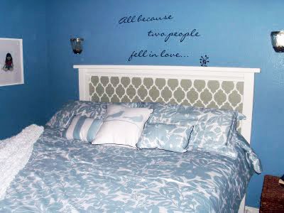Stenciling a Moroccan Headboard with Cutting Edge Stencils
