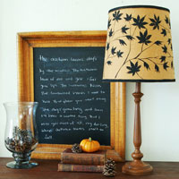 Stencil Idea: Creating Stenciled Lamp Shades