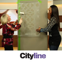 Cityline TV Talks: Stenciling a Bathroom Wall
