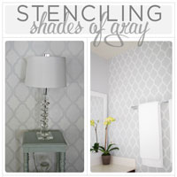 Stenciling Shades of Gray: Decorative Painting Idea