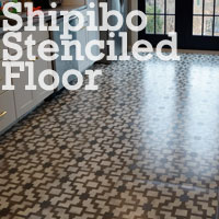 Painting a Geometric Stenciled Floor with Cutting Edge Stencils