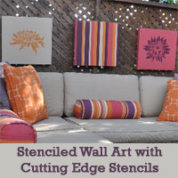 Home Decorating Idea: Stenciled Wall Art Pieces