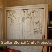 Stencil Ideas: Steller Stencil Craft Projects
