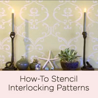 Video Tutorial: How To Stencil Using an Interlocking Pattern