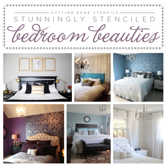 Stunningly Stenciled Bedroom Beauties