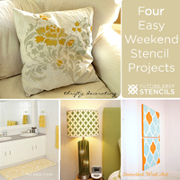 four simple stencil projects that you can do this weekend to spruce up your home!