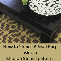 How to Stencil a Sisel Rug using a Shipibo Stencil pattern from Cutting Edge Stencils