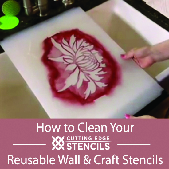 Learn How to Clean a Reusable Wall Stencil