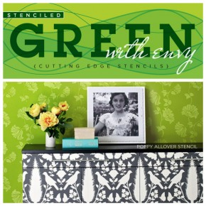 Stenciled Green With Envy