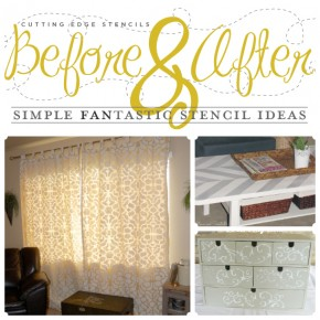 Before and After: Simple 'Fan'tastic Stencil Ideas