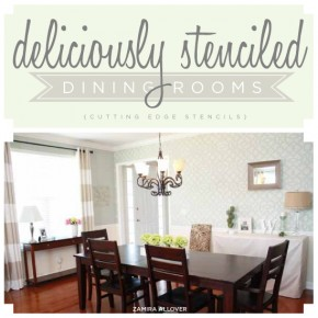 Stenciled Dining Rooms by Cutting Edge Stencils.