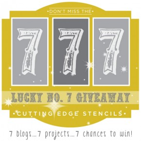 Win a free stencil in the Cutting Edge Stencils 7 blog giveaway! ($75 value) www.cuttingedgestencils.com