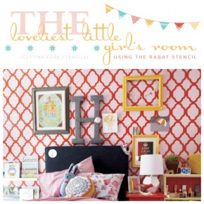 The Loveliest Little Girl's Room Using The Rabat Stencil